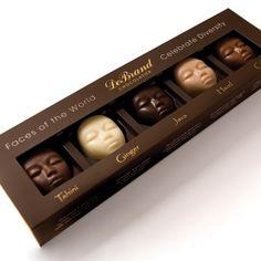 "Creative Packaging Design - DeBrand Chocolate. ""Celebrate diversity"" is such a beautiful line."