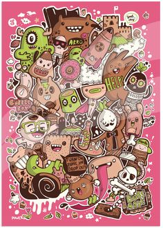 Cartoony Inferno | Illustrator: Bobsmade - http://www.bobsmade.com/