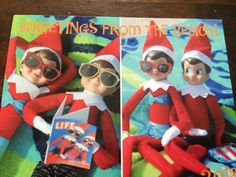Elf on the Shelf Postcards - greeting from your elf during the off season. My kids LOVED this surprise!