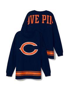 Victoria's Secret PINK Chicago Bears long sleeve crew neck
