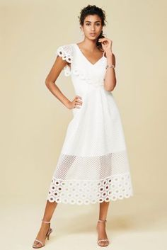 White One Shoulder Lace Dress from Next Hungary