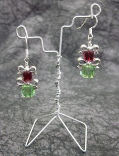 Swarovski Crystal Christmas Present Earrings. $29.95, via Etsy.