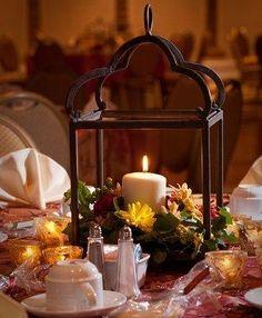 Table Lanterns - Fall Wedding Decorations [Slideshow]