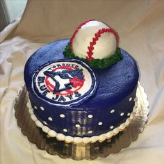 Blue Jays little league baseball end of the year party cake  by Inphinity Designs. Please visit my FaceBook Page Inphinity Designs by Kandy Lloyd to order.
