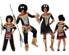 Familia de Zulús #disfraces #carnaval #disfracesparagrupos