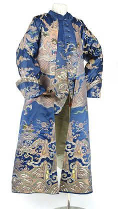 Banyan and waistcoat made from a dragon robe, 18th century
