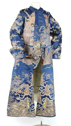 Banyan and waistcoat made from a dragon robe, 18th century