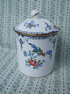TUSCAN FINE BONE CHINA JAM JELLY CONDIMENT JAR