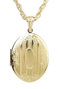 Boutique by 1928 Large Oval Locket Pendant Necklace