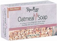 Soap Oatmeal-All Vegetable Bar 4.50 Ounces by Reviva. $2.19. Serving Size:. 4.5 Ounces Bar. Preferred by normal, oily skins, although anyone can use it. Extra scrub action. Vegetable base.. Save 45% Off!