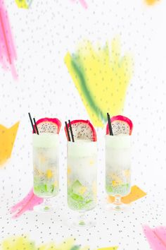 Pattern Play: Dotted Thai Fruit Cocktail Recipe