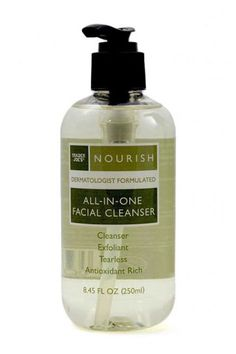 Trader Joe's Nourish All-in-one-facial Cleanser. Trader Joe's Nourish All-in-one-facial Cleanser. Natural Facial Cleanser, Face Cleanser, Face Serum, Best Trader Joes Products, Glycolic Acid, Skin Care Regimen, Face Wash, Good Skin, Healthy Skin