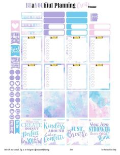 Create – Free Planner Printable – BEaYOUtiful Planning