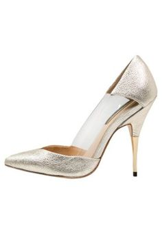 CLOVER - Zapatos altos - metallic gold