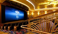 Movie theater aboard a Disney Cruise, Disney Trips, Movie Theater, Theatre, Digital Cinema, Disney Fantasy, Style Seats, Cruise Ships, Films