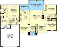 Plan 11772HZ: 3 Bedroom Acadian House Plan