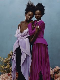 "pocmodels: ""Adut Akech & Anok Yai by Tyler Mitchell for Vogue US - April 2019 "" My Black Is Beautiful, Beautiful People, Fashion Shoot, Editorial Fashion, Fashion Hair, Fashion Outfits, Black Girl Aesthetic, Vogue Us, Black Girl Fashion"