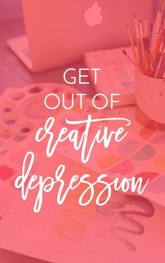 It's totally normal as a creative person or creative business owner to go through times when you feel depressed and when you just can't create. Read about my experience and my tips to help you get out of it. | Jaimie Myers