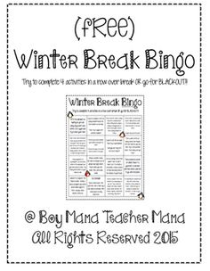 what i did over winter break essay How i spent my holiday break by peg grafwallner december 14, 2015  why then did students seem so tense,  excited over all the possibilities of progress,.