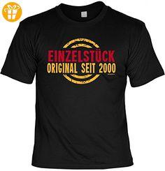 Jahrgang Shirt - Einzelstück Original 2000 - bedrucktes T-Shirt mit Motiv als Geschenk zum Geburtstag in Schwarz, Größe:3XL (*Partner-Link)