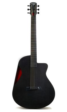 Blackbird Carbon Fiber Guitar. The Blackbird Rider features an all-hollow uni-body shell setting it apart from any guitar in the world. Each Blackbird is individually made by small team of luthiers in San Francisco. Making me wish I could play the guitar!