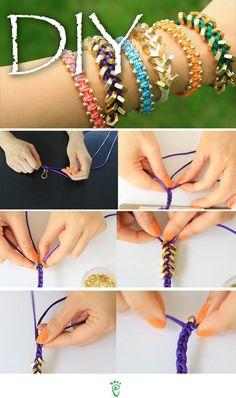 pulseiras de vários estilos