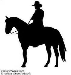Image result for Cowboy On Horse Silhouette