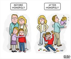 Funny pictures about Every Family Before And After Monopoly. Oh, and cool pics about Every Family Before And After Monopoly. Also, Every Family Before And After Monopoly photos. Monopoly Funny, Monopoly Game, Funny Shit, The Funny, Funny Stuff, Funny Things, Random Things, Funny Photos, Funny Images