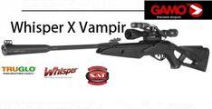 Gamo Whisper X Vampir, verkaufserfolg in ganz Europa Gamo, enthält ein Gamo zielfernrohr mit laser und taschenlampen, Gamo futteral und JSB kugeln.