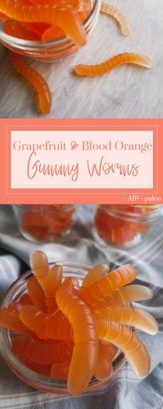 Grapefruit & Blood Orange Gummy Worms   Real Food & Love