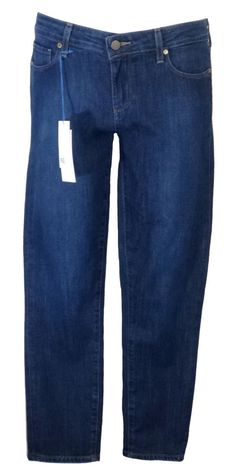 Paige Womens Jeans Denim KYLIE Cropped Skinny Stretch Claire Blue Sz 24 NEW $189 #PaigeDenim #SlimSkinny