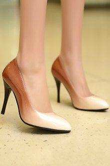Gradient Color Pointed Toe Stiletto Heel Pumps