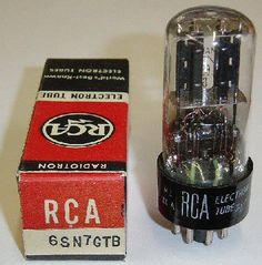 Remember when TVs & Radios were filled with tubes. - This particular tube was used in the audio section, typically as a driver for the output tube. It was replaced by the 12AU7, which is still in use in very high end high fidelity