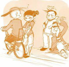 Kevin and the dorks -Ed Edd n Eddy----- Awwww lovely! Ed And Eddy, Ed Edd N Eddy, Misadventures Of Flapjack, Du Dudu E Edu, Villainous Cartoon, Cartoon Ships, Otaku, Animes Yandere, Cartoon Sketches