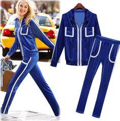 Women Velvet Sportswear Suit Free Shipping 2014 Autumn Sportswear European Fashion Zipper Woman Velvet Sport Suit Women