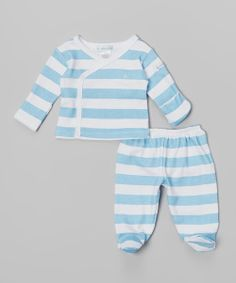 Take+a+look+at+the+Blue+Ocean+Rugby+Stripe+Top+&+Footie+Pants+-+Infant+on+#zulily+today!