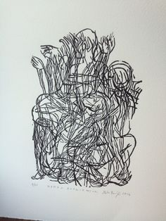 Wanda Rutkiewicz, linocut, 18x 25cm, 2014, Marta Bozyk