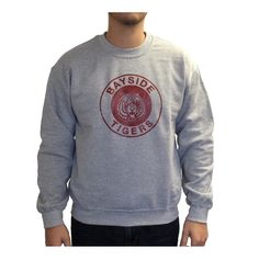 51fffb91c1e Get all dressed up with this Zack Morris Bayside Tigers Crew Neck Sweatshirt…  Zack Morris
