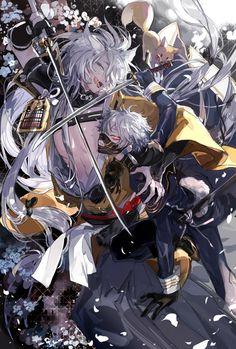 Touken Ranbu Game Kogitsunemaru , Nakigitsune Anime Demon, Manga Anime, Anime Art, Kaneki, Zoro, Touken Ranbu Nakigitsune, Samurai, Hot Anime Guys, Anime Style