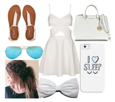 """""""summery look"""" by flinch552 ❤ liked on Polyvore featuring Topshop, Aéropostale, Michael Kors, Ray-Ban and Casetify"""