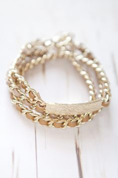 Gold Wrap ID Bracelet