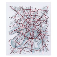"""Artwork depicting city map of greater Moscow. Picton considers his work sculptural, """"separating out the layers of communication, transportation and river systems. Leave Art, Art Alevel, Graphic Novel Art, Map Wallpaper, Aerial Images, A Level Art, Modern Artists, Enamel Paint, City Maps"""