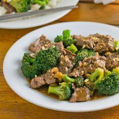 Stir Fried Beef & Broccoli with Black Bean Sauce