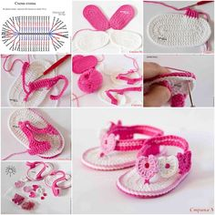 DIY Sweet Crochet Baby Summer Bootie with Heart