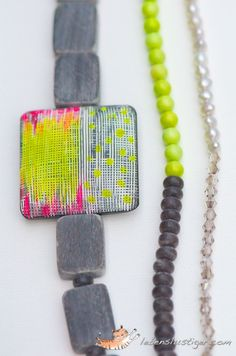 neon square - great bead!!!