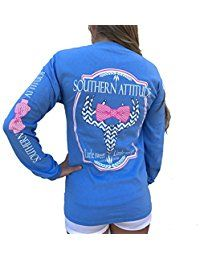 New Southern Attitude Sassy Chevron Deer Skull Carolina Blue Long Sleeve Shirt online. Find the perfect Pacific Legend Ladies Hawaiian Shirt Tops-Tees from top store. Sku CMYN96103QZNY95860