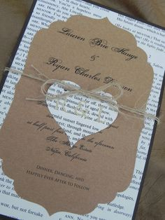 Rustic Ornate Book Pages Wedding