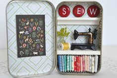 Tea Rose Home: Tiny Tin Sewing Room Now in My Etsy Shop!