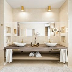 tolicci, luxury modern bathroom, italian design, interior design, washbasin, luxusna moderna kupelna, taliansky dizajn, umyvadlo, navrh interieru Modern Bathroom, Double Vanity, Interior Design, Luxury, Nest Design, Funky Bathroom, Home Interior Design, Interior Designing, Home Decor