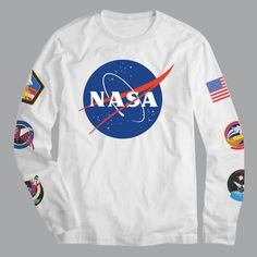 Men s NASA Pop Culture Long Sleeve T-Shirt - White 675b7e5fb